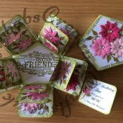 Floral Exploding Box Card7
