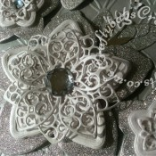 """8"""" x 8"""" Card made using Tattered Lace chains embossing folder, Tattered Lace Kaleidoscope flower and leaf dies, Marianne leaf spray die, Britannia dies sentiment and Cheery Lynn alphabet dies - craftybabscreativecrafts.co.uk"""