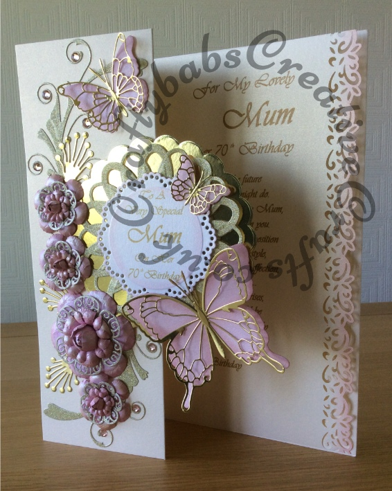 Special Card For A Special Mums 70th Birthday – Handmade 70th Birthday Cards