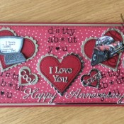 Men's anniversary card - craftybabscreativecrafts.co.uk