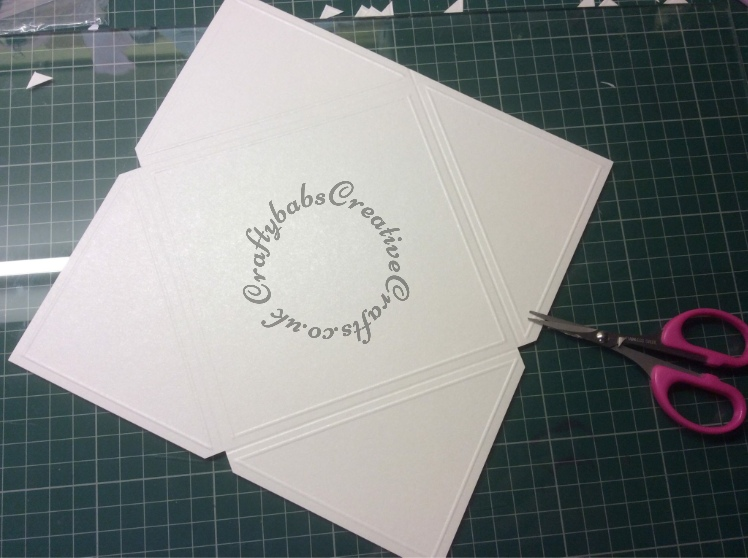 Wedding Invitation, Hougie board, Crafters Companion Big Score - craftybabscreativecrafts.co.uk