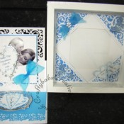 Spellbinders Gold Elements One Photo Fram & Card - craftybabscreativecrafts.co.uk