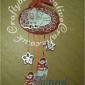 Tattered Lace Little Monsters Xmas Plaque - craftybabscreativecrafts.co.uk