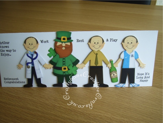 Men's retirement card - craftybabscreativecrafts.co.uk