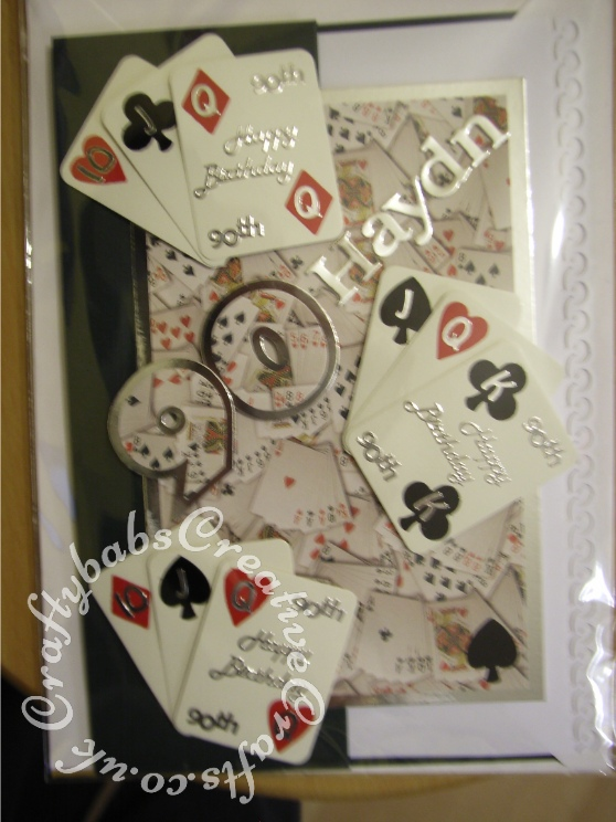 Mens Bridge Playing Cards Birthday Card 90th Craftybabs Creative