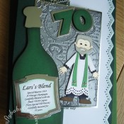 Men's birthday card vicar 70th - craftybabscreativecrafts.co.uk