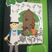 Men's Birthday card barbeque gardening 40th
