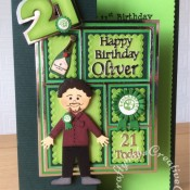 Men's Birthday Card green party candidate 21st - craftybabscreativecrafts.co.uk