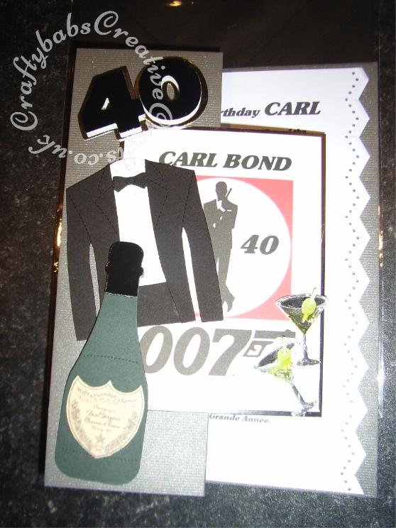 men's james bond birthday card th  craftybabs creative crafts, Birthday card