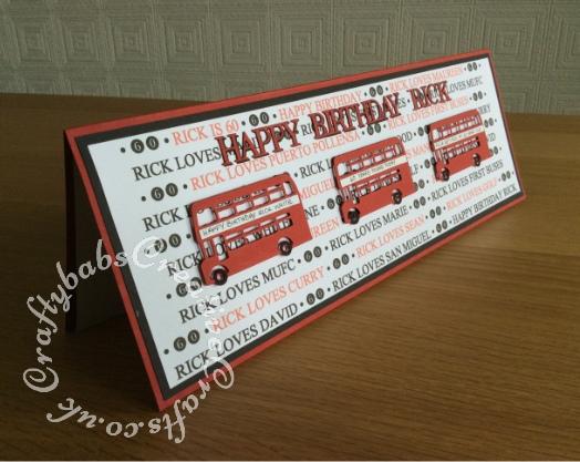 Men's birthday card - craftybabscreativecrafts.co.uk