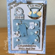 Baby Boy Birth Card Dresser - craftybabscreativecrafts.co.uk
