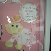 Baby Keepsake Photo Frame - craftybabscreativecrafts.co.uk