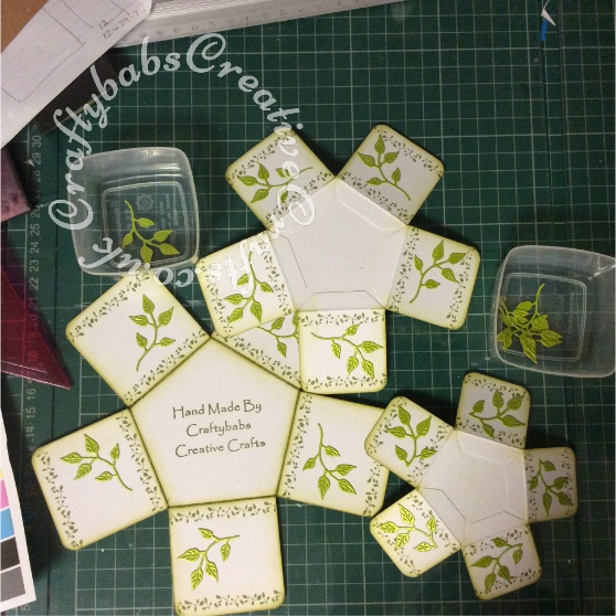 Tattered Lace Pentagon Exploding Box Card Tutorial 12 - craftybabscreativecrafts.co.uk