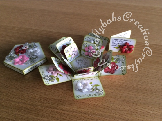 Tattered Lace Pentagon Exploding Box Card Tutorial28 - craftybabscreativecrafts.co.uk