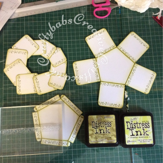 Tattered Lace Pentagon Exploding Box Card Tutorial 3 - craftybabscreativecrafts.co.uk