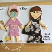Look alike graduation card, Quickutz Revolution doll dies - craftybabscreativecrafts.co.uk