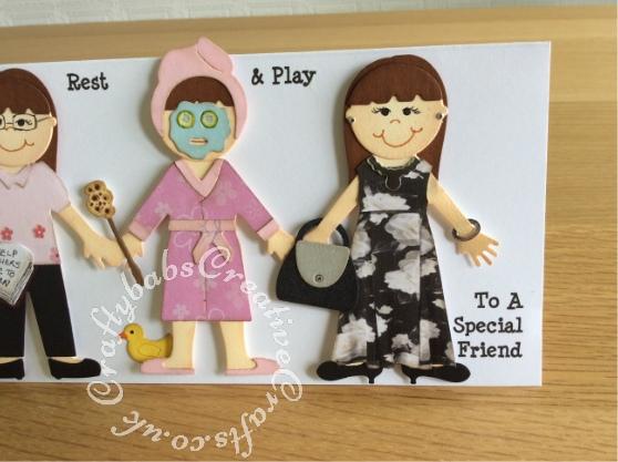 Look alike graduation card, Quickutz Revolution doll dies - craftybabscreativecrafts.co.uk