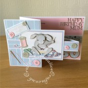 Joanna Sheen Happy Hoppers CD Rom - 80th Birthday Mum - craftybabscreativecrafts.co.uk