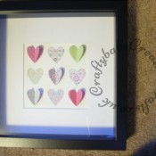 3D Heart Picture Trio - craftybabscreativecrafts.co.uk