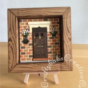 New Home Shadow Box card - Marianne bricks die - Xcut Georgian Door - craftybabscreativecrafts.co.uk
