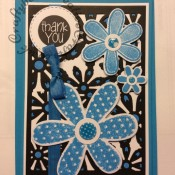 Daisy Thank you card Sizzix thinlits/framelits - craftybabscreativecrafts.co.uk
