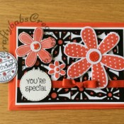 Daisy you're special/birthday card Sizzix thinlits/framelits - craftybabscreativecrafts.co.uk