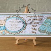 Baby Boy Birth Card Tattered Lace- craftybabscreativecrafts.co.uk