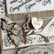 Spellbinders Wedding Card & Matching Gift - craftybabscreativecrafts.co.uk