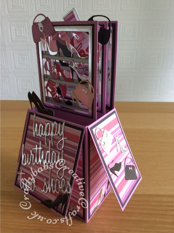 21st Birthday Pop Up Card Shoes Amp Bags1 Craftybabs