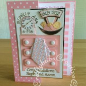 Baby Girl Dresser Drawers Card - craftybabscreativecrafts.co.uk