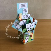 Cricket, Fishing, Football Men Pop Up Card - craftybabscreativecrafts.co.uk