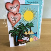 Engagement On Holiday Card - craftybabscreativecrafts.co.uk