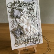 18th birthday floral photo card - craftybabscreativecrafts.co.uk
