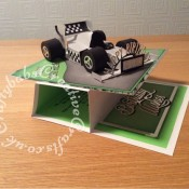3D car modified easel card - craftybabscreativecrafts.co.uk