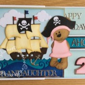 Pirate double Z fold Birthday Card - craftybabscreativecrafts.co.uk
