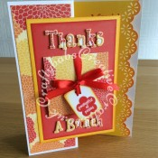 Flower Pop Up Thank you card - craftybabscreativecrafts.co.uk