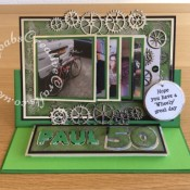 Men's birthday card Memory Box Gearworks- craftybabscreativecrafts.co.uk