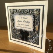 """8"""" Square Christmas Card, Spellbinders Card Creator Decorative Holly Frame - craftybabscreativecrafts.co.uk"""