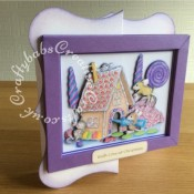 Joanna Sheen Housemouse CD ROM Large Framed Decoupaged Christmas Card - craftybabscreativecrafts.co.uk