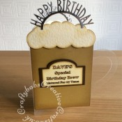 Acetate Beer Mug Birthday Card, Tattered Lace, Sizzix Framelitslits - craftybabscreativecrafts.co.uk