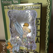 Tinkerbell Shaker Christmas Card, Memory box, Cuttlebug, Sizzix, Tattered Lace, Tonic - craftybabscreativecrafts.co.uk