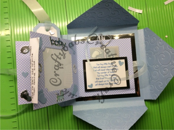 Parcel Keepsake Card Tutorial - craftybabscreativecrafts.co.uk