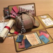 Sherlock Holmes Birthday Keepsake Box,Sizzix Framelits Die Set 6PK w/Stamps - Gypsy Findings, Antique Handles 658462 Sizzix Bigz Die & Matching Embossing Folder - craftybabscreativecrafts.co.uk