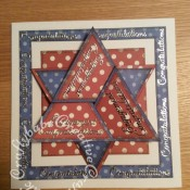 Star Fold Engagement Card, Spellbinders Shapeabilities etched alphabet die, Tattered Lace Sentiment borders - craftybabscreativecrafts.co.uk