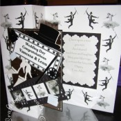 Fred Astaire & Ginger Rogers themed Wedding card - craftybabscreativecrafts.co.uk