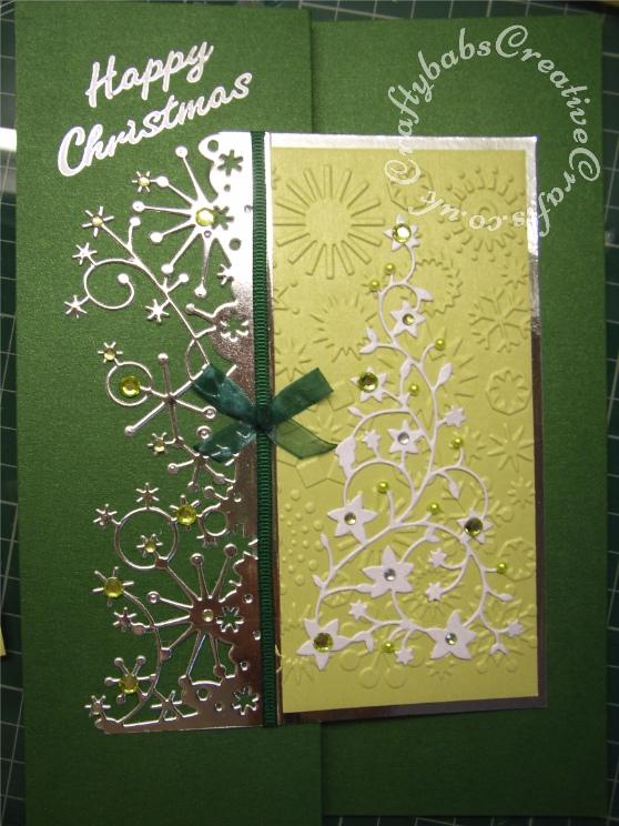 gem tree  snow border card  craftybabs creative crafts