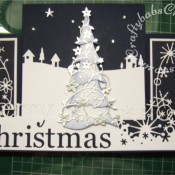 -Scenic Stepper Christmas card made using Memory Box Grand merry Christmas die, Memory Box country landscape die, Memory Box snowy breeze border die, Memory Box flowering Christmas tree die, Memory Box Frostyville border die and Dee's Distinctively Christmas tree stacker die - craftybabscreativecrafts.co.uk