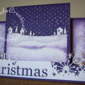 Scenic Stepper Christmas card made using Memory Box Grand merry Christmas die, Memory Box country landscape die, Memory Box Frostyville border die and cuttlebug Winter borders embossing folder - craftybabscreativecrafts.co.uk