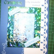 Winter words shaker Christmas card Made using Cuttlebug sledding embossing folder and Sizzix Originals Large Rectangle Frame die - craftybabscreativecrafts.co.uk