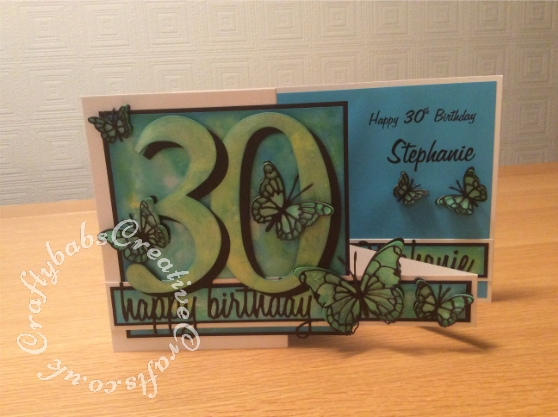 Double Z Fold 30th Card2 Craftybabs Creative Crafts